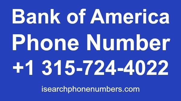 Bank of America phone number