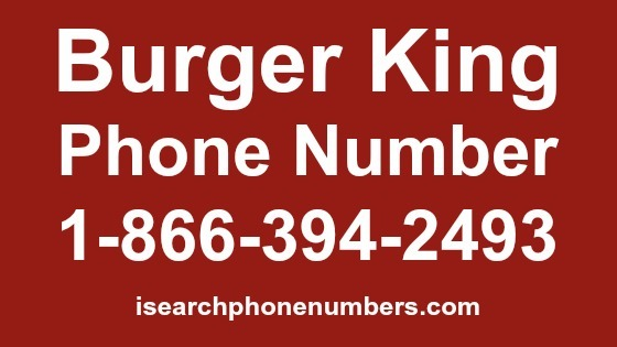 Online Assistance Contact Portal Address Of Burger King