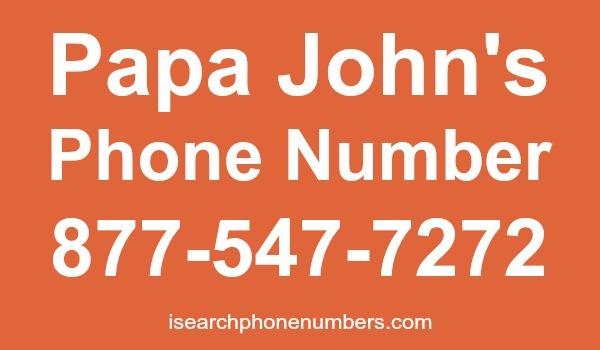 Papa John's phone number