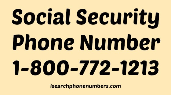Social Security 1 800 phone number