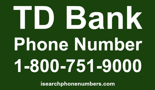 TD Bank phone number